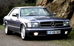 HMK TitleCarMatsBefore Mercedes W126 Coupé.