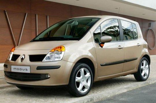 2004-2012 Anthrazit Fußmatten Autoteppiche Renault Modus Bj